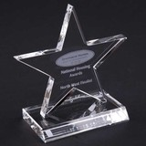 13cm Optical Crystal 5 Pointed Star Award